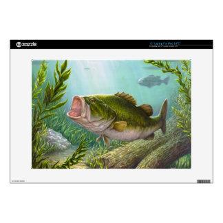 "Bass Fish 15"" Laptop Skin"