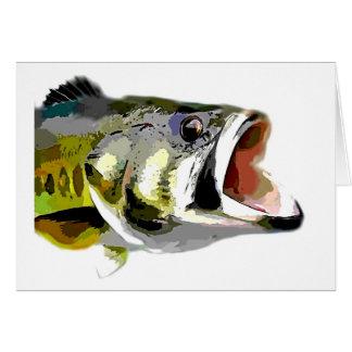 Bass Fish Card