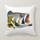 Bass Fish Throw Pillow