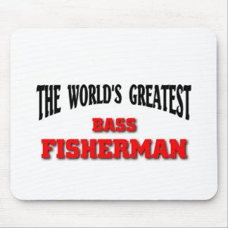 Bass Fisherman Mouse Pads