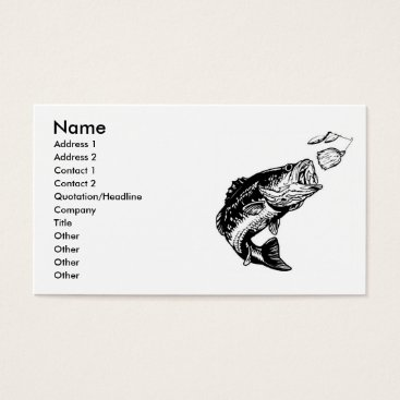 Professional Business Bass Fisherman's Business Cards