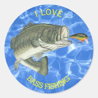 Bass Fisherman's Custom Sticker
