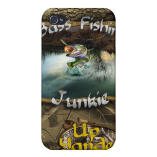 Bass Fishin' Junkie Covers For iPhone 4