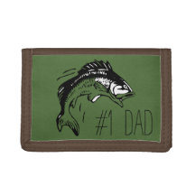 Bass Fishing #1 Dad Trifold Wallet