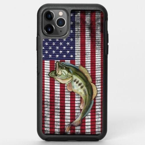 Bass Fishing American Flag Phone Case