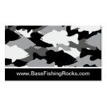 Bass Fishing Black Camo Business Card Template