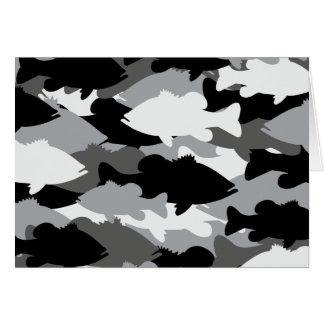 Bass Fishing Black Camo Stationery Note Card