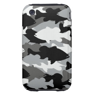 Bass Fishing Black Camo iPhone 3 Tough Covers
