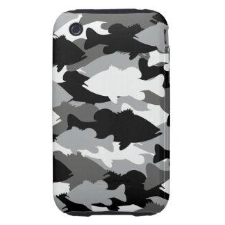 Bass Fishing Black Camo iPhone 3 Tough Cover