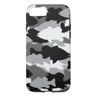 Bass Fishing Black Camo iPhone 8/7 Case