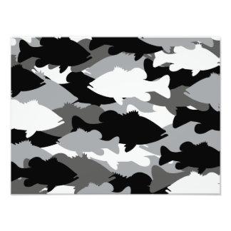 Bass Fishing Black Camo Photo Print