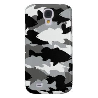Bass Fishing Black Camo Samsung Galaxy S4 Cover