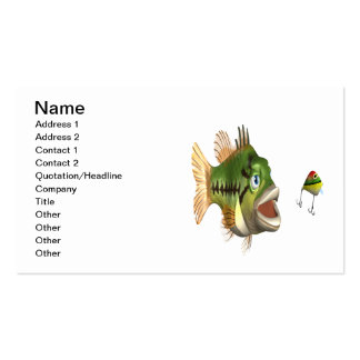 Bass Fishing Business Card Template