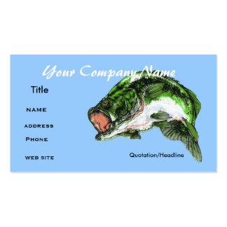 Bass fishing ,Business card Business Card