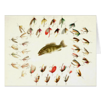 Bass Fishing Flies 1882 Card