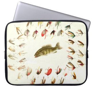 Bass Fishing Flies 1882 Laptop Sleeve