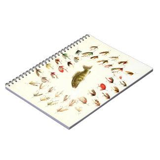 Bass Fishing Flies 1882 Notebook