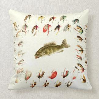 Bass Fishing Flies 1882 Pillows
