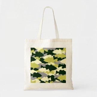 Bass Fishing Green Camo Budget Tote Bag