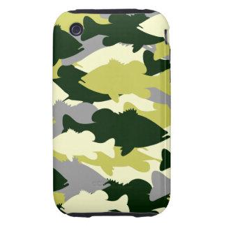 Bass Fishing Green Camo iPhone 3 Tough Case