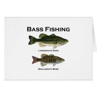Bass Fishing Logo (largemouth - smallmouth) Card