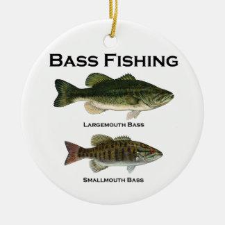 Bass Fishing Logo (largemouth - smallmouth) Ceramic Ornament