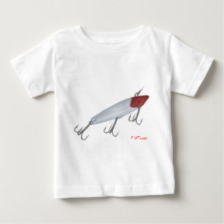 Bass fishing lure. Topwater lure T-shirt