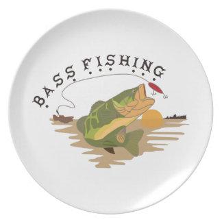 Bass Fishing Plate