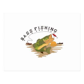 Bass Fishing Postcard