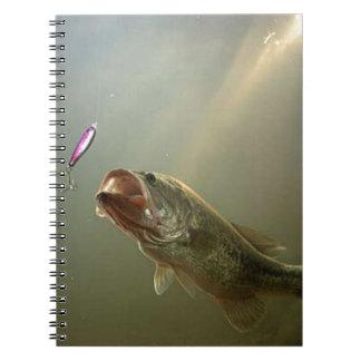 bass fishing spiral notebook