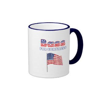 Bass for Congress Patriotic American Flag Design Mug