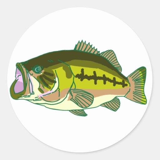 Bass green 2 stickers