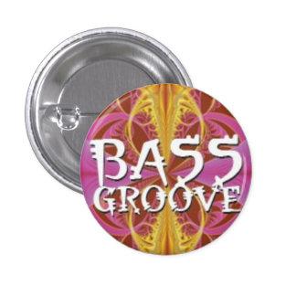 Bass Groove 1 Inch Round Button