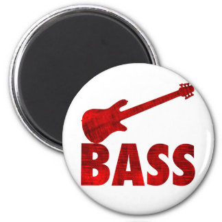 Bass Guitar 2 Inch Round Magnet
