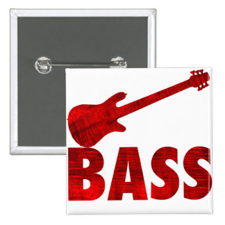 Bass Guitar 2 Inch Square Button