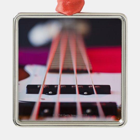 Bass Guitar 3 Metal Ornament
