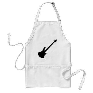 bass guitar bassist adult apron
