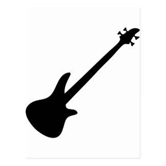 bass guitar bassist postcard