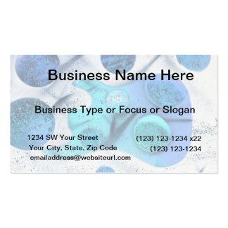 bass guitar blue green invert planets painting business card
