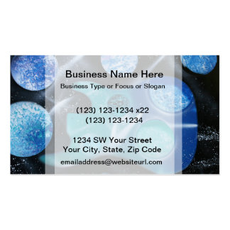 bass guitar blue green planets painting Double-Sided standard business cards (Pack of 100)