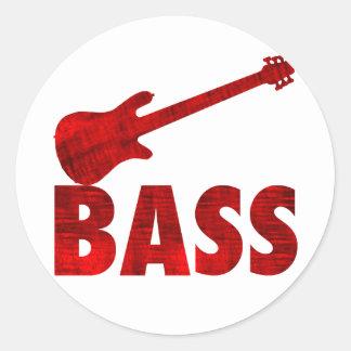Bass Guitar Classic Round Sticker