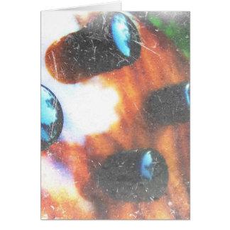 Bass guitar control knobs grunge look tiger eye greeting card