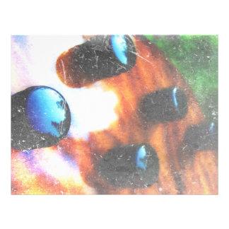 Bass guitar control knobs grunge look tiger eye custom flyer