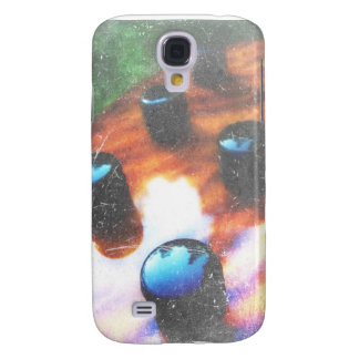 Bass guitar control knobs grunge look tiger eye galaxy s4 case