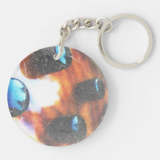 Bass guitar control knobs grunge look tiger eye Double-Sided round acrylic keychain