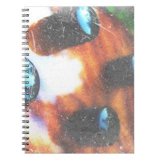 Bass guitar control knobs grunge look tiger eye notebook