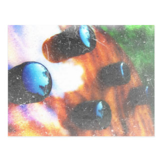 Bass guitar control knobs grunge look tiger eye postcard
