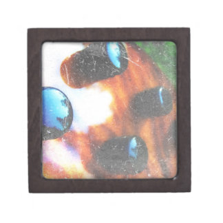 Bass guitar control knobs grunge look tiger eye premium trinket boxes
