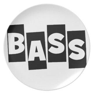 Bass Guitar Dinner Plate