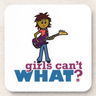 Bass Guitar Girl Beverage Coaster